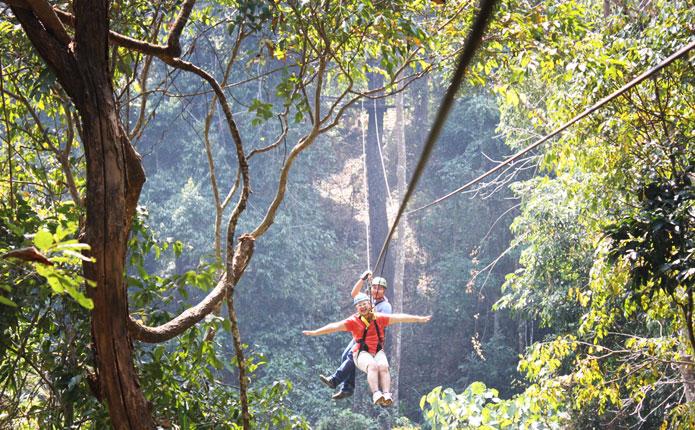 โหนสลิง โหนต้นไม้ zipline เชียงใหม่