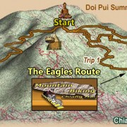 Eagles Route Downhill Map