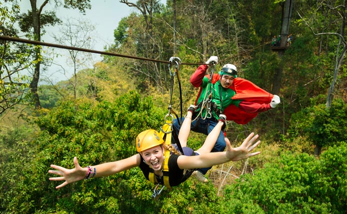 Real Rainforests Zipline Adventure Tour From Chiang Mai